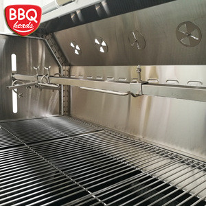 Heavy duty charcoal spit rotisserie/roaster
