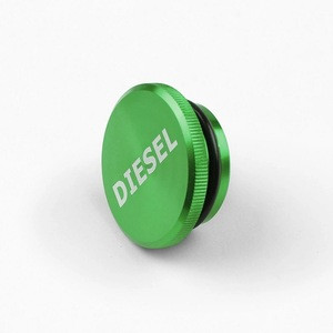 High Quality Oil Tank Cap Cover Green Anodized Cnc Aluminum Diesel Fuel Tank Cap