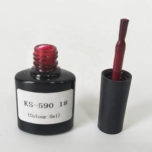 Hot selling UV Gel Polish  KS-590  Colour Gel  UV/LED Free Sample  Nail Art Beauty  Red