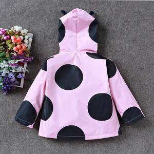 Latest Pink Sweet Baby Girl Windproof Rain Jacket