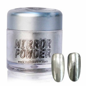 [NailSketch] Korean Nail Mirror Powder Perfect Silver for Nail Art Decoration OEM Custom label Wholesale
