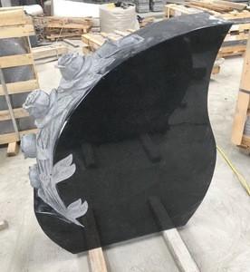 New cheap black granite carved Monument Headstone European Tombstone Sculpture Gravestone