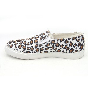 New fashion leopard print height increasing shoes women no lace casual canvas loafer shoes