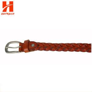 OEM women Belt knitted ladies PU leather belts