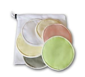 Organic Bamboo Nursing Pads With Laundry Bag Washable Breastfeeding Pads