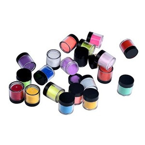 Powder Nail Set for Nail Art 18 Colors Collection, Acrylic Nail Art Tips UV Gel Powder Dust Design 3D Manicure