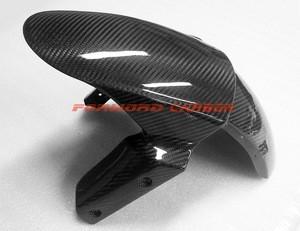 Quality carbon fiber motorcycle parts front fender for Kawasaki Ninja ZX6R 636