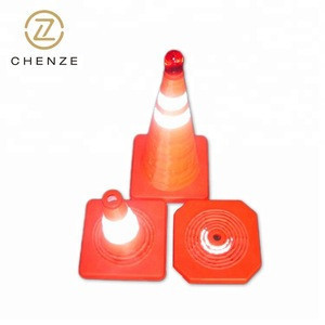 Reflecting light at night folding traffic cone/safety cone/pop-up safety cone
