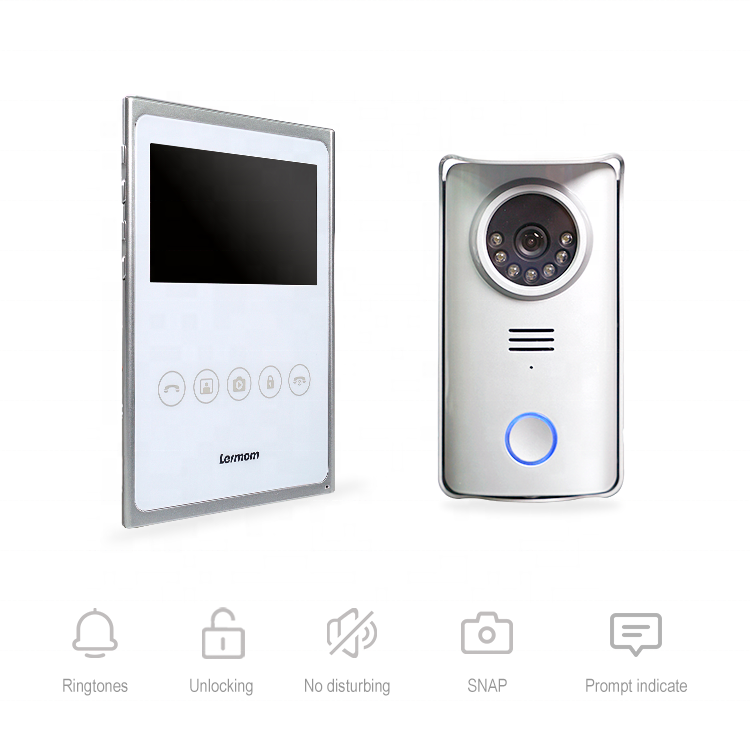 Smart security devices video doorbell 2 wire intelligent doorbell intercom villa Infrared night vision interphone video home