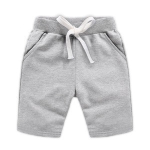 Summer wholesale customized cotton plain color kid toddler boy's cargo shorts