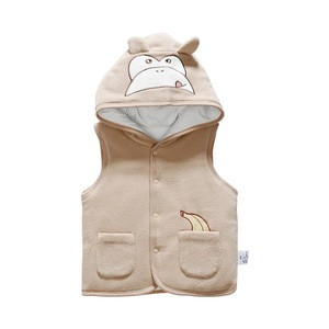 Winter Safety Kids Sleevlees New Born Baby Vest With Hood