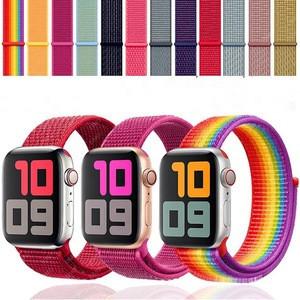 Woven Nylon Iwatch Strap Band Sport Replacement Band Strap Apple Watch Band 44mm 40mm 42mm 38mm for Apple Watch Series 5/4/3/2/1