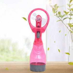 Zogift Mini Portable Battery Operation Fan Water Bottle Spray Mist Fan