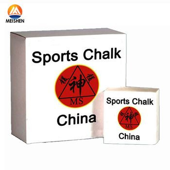 Solid gym chalk for fitness centers