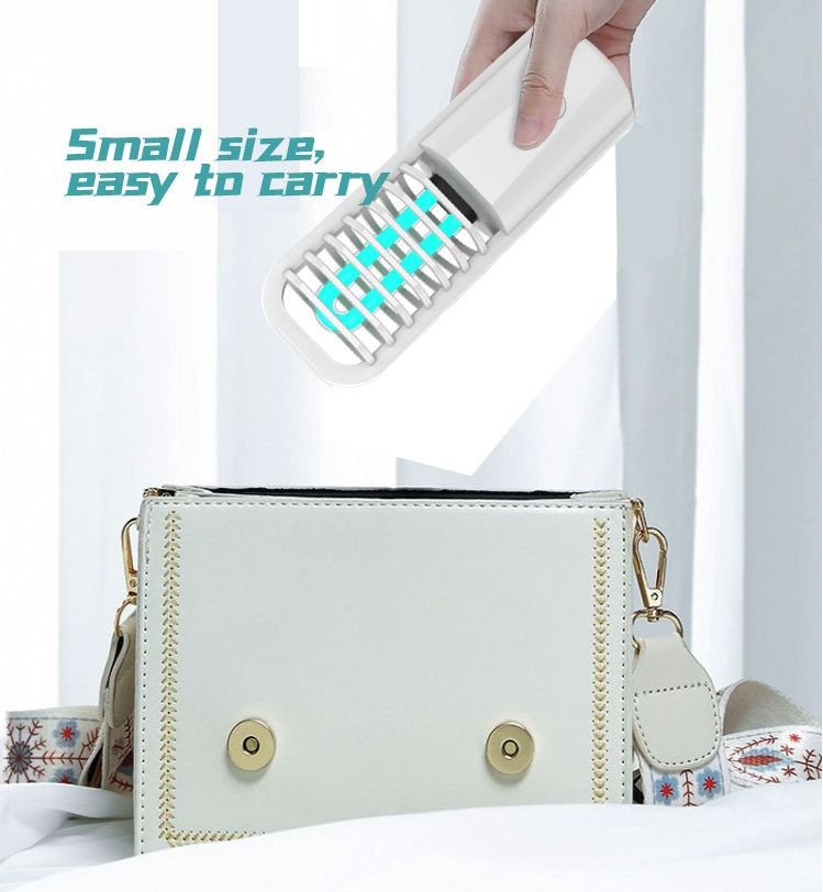 Indoor Home Ultraviolet Ozone DisinfectionSterilization Lamp, USB Chargeable Portable Car Mobile UV Lamp