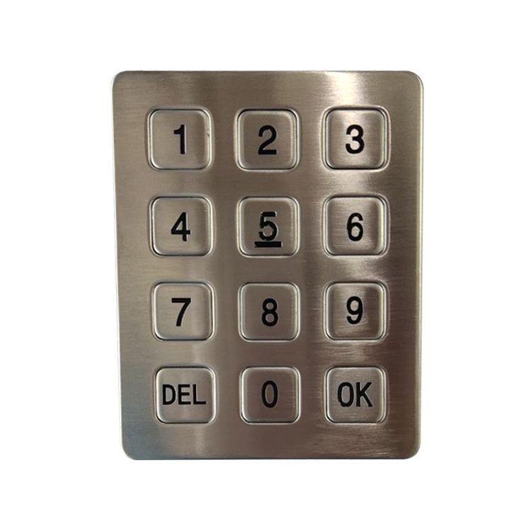 Factory supply metal keypad/wholesale usb numeric keypad/waterproof vending machine keypad