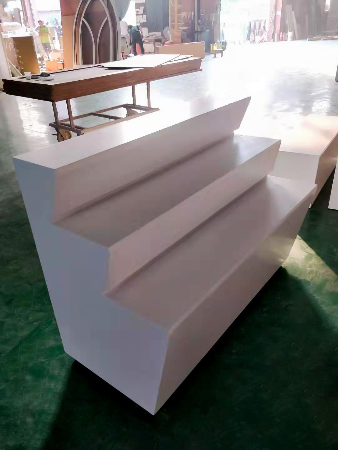 Wooden shop display stand