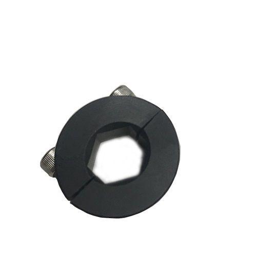 1/2″ Hex Bore Black Anodized Aluminum Two-Piece Shaft Collar