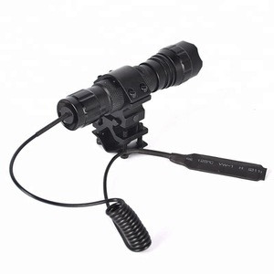 1000LM T6 LED 501B Waterproof Flashlight Torch and Remote Pressure Switch and Light Mount Gun