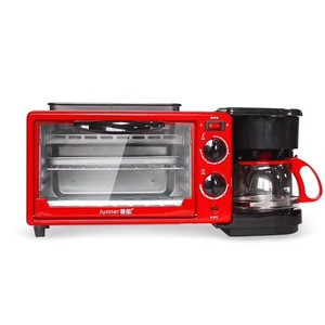 3 in 1 breakfast making machine egg frying coffee maker toast oven
