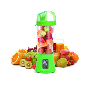 380ml Portable Personal Juice Mixer Electric Mini Hand Fruit Blender with 2/4/6 Blades
