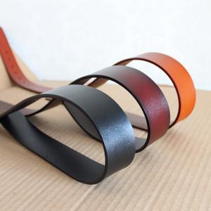 3.8cm Mens Comfortable Claret Genuine Leather Ratchet Dress Belt