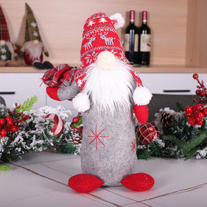 AA86 Christmas Decoration Supplies Nordic Faceless Gnome Doll Christmas Tree Ornaments Handmade Gift Felt Forest Faceless Doll