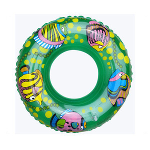 Adults /kids size phthalate free swimming ring with custom logo blow up swim tube