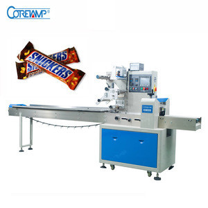 Automatic Feeder Granola Energy Chocolate Bar Packaging Machine