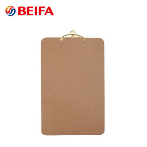 Beifa BFBF912 Black Color Stationery Board A5 Size Wooden MDF Clipboard With Gold Metal Clip