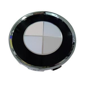 Blue Black 68MM OEM Replacement Wheel Hub Caps