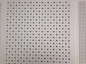 Building Material Prices China Drywall Perforated Wool Acoustic Panels