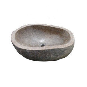 China Natural Bathroom River Stone Wash Basin Price