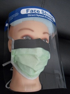 Clear Plastic Face Shield/Barrier Film