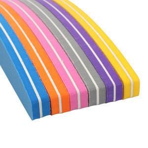 Colorful Sponge Sandpaper Nail Files For Manicure Nail Block Sanding Foam Emery Board Lime Boat Nail Buffer
