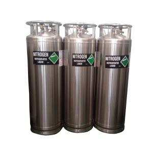 Cryosauna cryotherapy wrapped fiberglass composite gas cylinder