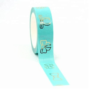 Custom Bow Foil Washi Tape Wide Note Masking Tape School Office Supplies Paper Tape For DIY Making