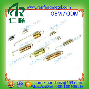 Customized extension spring with ends hooks stainless steel