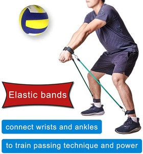 DASKING Volleyball Training Pass Rite Aid Resistance Band, Elastic Volleyball Resistance Belt Set for for Agility Training, Prac