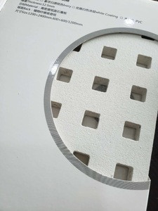 DEGO gypsum acoustic Ceiling Tiles Perforated Plasterboard Ceilings  with NRc 0.65 fireproof A2