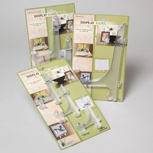EASEL ASSORTED SIZES 1-9.75IN/ 2-6.5IN/3-4.5IN TIE ON CARD #G20254N