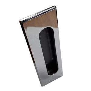 Elegant texture Chromed Recessed drawer handle industrial accessories Zinc alloy metal handle VERY high quality