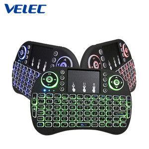 Ergonomic surface pocket android smart tv laptop electronic mechanical gaming led backlit usb mini wireless keyboard