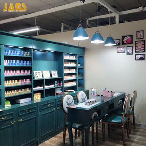 Factory custom nail salon cabinet, nail polish wall  display cabinets design