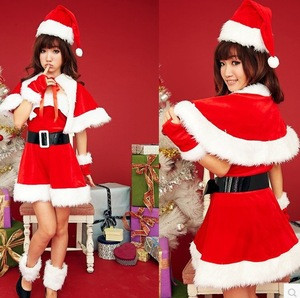 Fashionable women sexy cosplay dress Christmas costume
