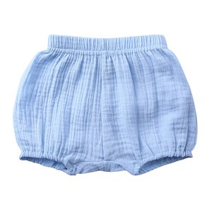 Hot Sale Summer High Quality Baby Clothes Cotton Linen Baby Shorts Pure Color Baby Bloomers