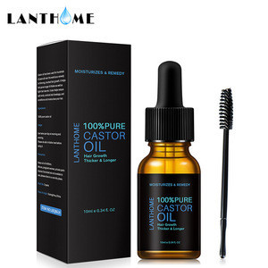Lanthome Castor Oil Mascara Nourishing Lotion Conditioner Gentle Moisturizing Hair Essential Oil 10ml HL009