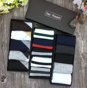 Mens cotton hosiery plain boat black cheap socks box-packed wholesale