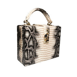 New style snake skin pattern luxury handbags for women PU leather small case style bags