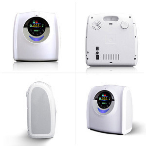 Portable Grey-White oxygen concentrator with battery for beauty